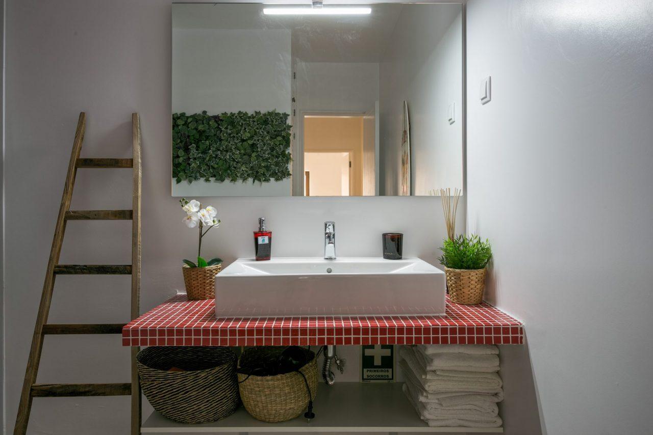Decoração de interiores em Alojamento Local - Casa de Banho